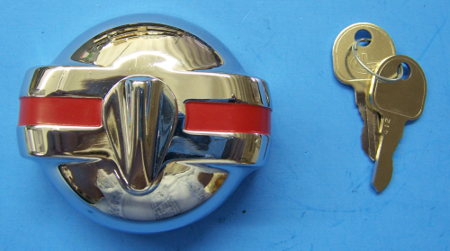1955-57 Locking Gas Cap (Red Stripe)