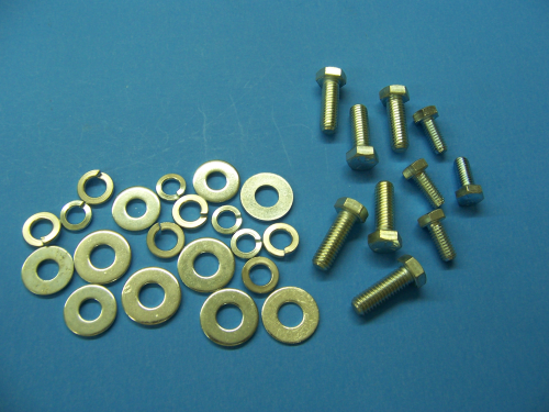 1957 Plated Hood Hinge Hardware Kit