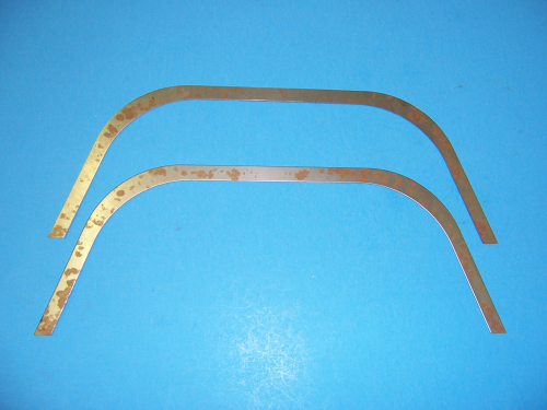 1956 A-Arm Dust Shield Retainers w/ Staples (Set)