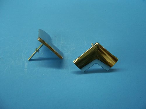 1955-57 Rear Window Corner Mouldings (Pair)