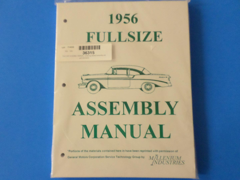 1956 full size chevrolet assembly manual rh hamlettschevy com 1962 Chevrolet 1958 Chevrolet